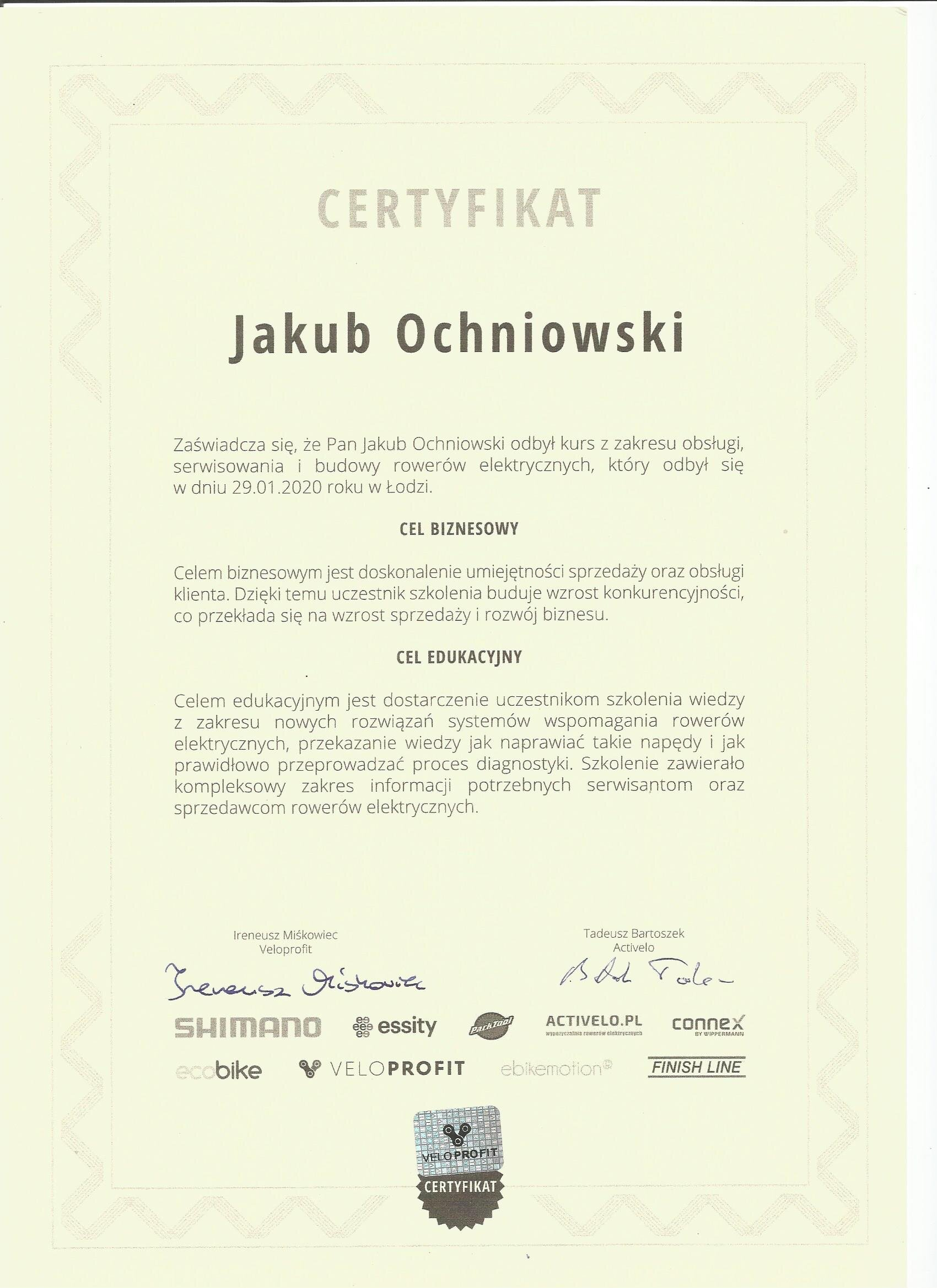 certyfikat serwis kraków